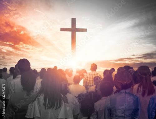 Christmas concept: worship and praise God Fototapete