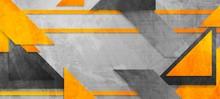 Hi-tech Abstract Orange Grey B...