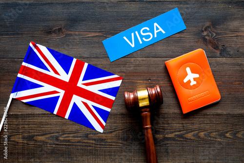 Photo Visa to Britain concept