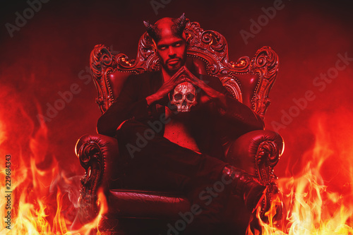 Fototapeta angry demon from hell
