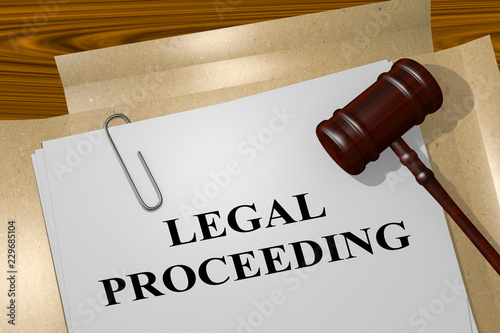 Fotografija  LEGAL PROCEEDING concept