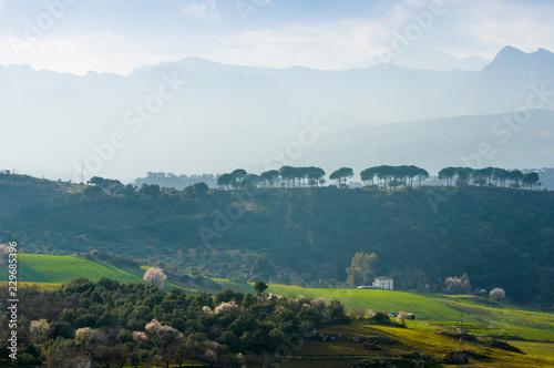 Foto op Canvas Groen blauw Hoya del Tajo, Ronda, Andalusia, Spain