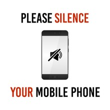 Please Silence Your Mobile Phone, Vector Sign.