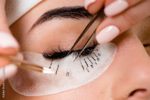 Eyelash extension procedure close up Wallpaper Mural