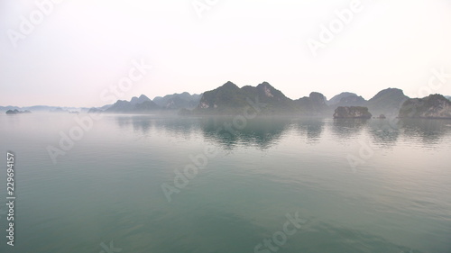 Landscape view of Halong Bay, Vietnam