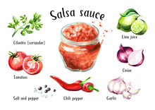 Salsa Sauce With All Ingredien...