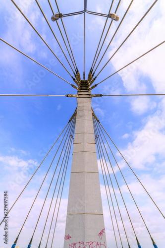 Fotografía  Kirov cable-stayed bridge over the Samara River. Russia.