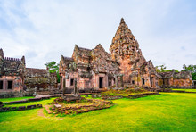 Prasat Hin Phanom Rung In Phanom Rung Historical Park. The Attraction In Buriram Province Of Thailand
