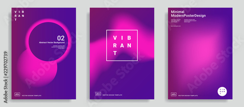 Photo  Trendy abstract design templates
