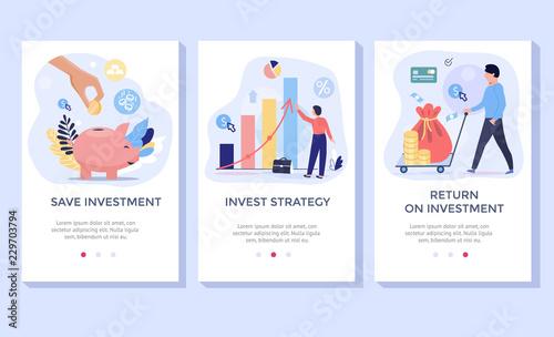 Fotografía  Investing Plans concept illustration set, perfect for banner, mobile app, landin
