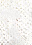 Złotego choinka wzoru białego papieru pusty ośniedziały tło - 229705545