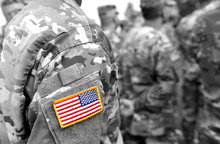 US Army Uniform Patch Flag. US Army. Military Concept.