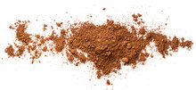 Pile Cocoa Powder Isolated On White Background. Top View
