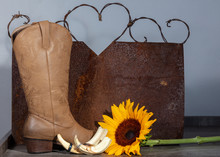 Cowboy Boot, Sunflower, Wartho...