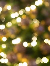 Glittering LED Christmas Lights On Christmas Tree