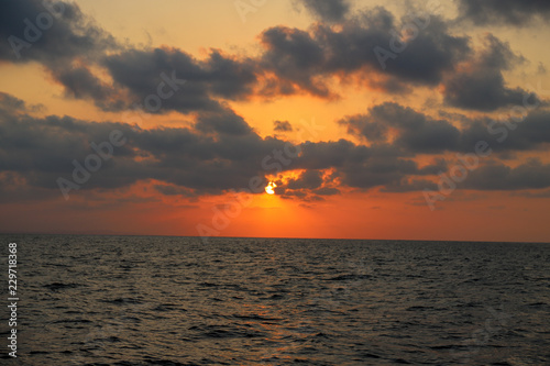 Sunset view on the sea