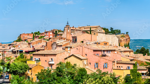 Poster Europese Plekken View of Roussillon, a famous town in Provence, France
