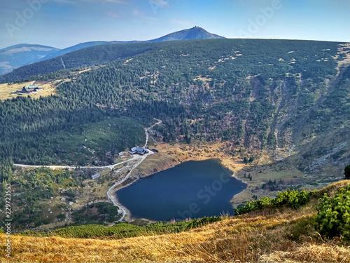 Fototapeta Maly Staw lake in Karkonosze mountains, Poland obraz