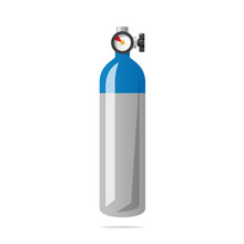 Oxygen Cylinder Tank Vector Is...