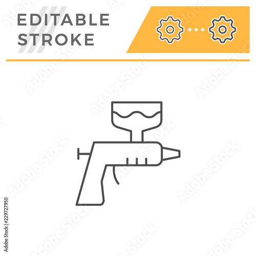 Paint gun line icon Tableau sur Toile