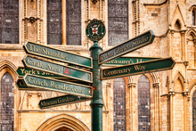 Signpost At York Minster