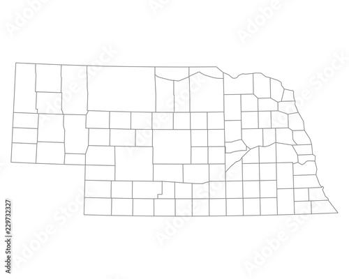 Mapa Nebraski