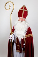 Saint Nicholas With His Book Looks At You With A Smile