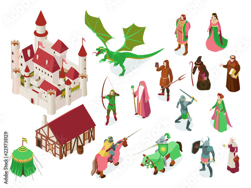 Medieval Fairy Tale Isometric Set