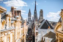 Aerial Citysape View Of Rouen ...