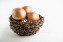 Golden Eggs In The Nest