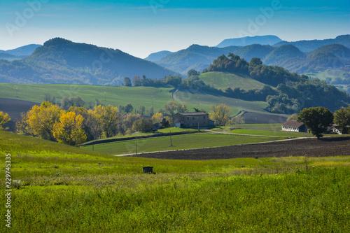 Fototapeta view on hills in montefeltro obraz na płótnie