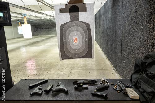 Obraz Indoor gun shooting range - fototapety do salonu