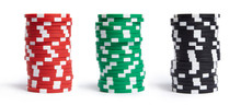 A Stacks Of Casino Chips Isola...