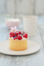 A Mini Charlotte With Berries