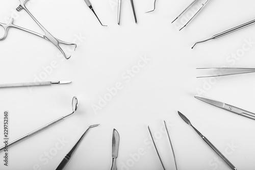 Fotografie, Obraz  Dentist's tools on white background