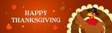 Happy Thanksgiving Banner Vect...