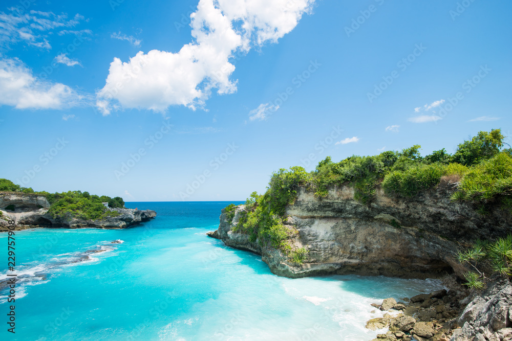Fototapety, obrazy: blue bay lagoon near Bali in Indonesia, Nusa Penida