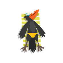 Black Raven Sunbathing On The ...
