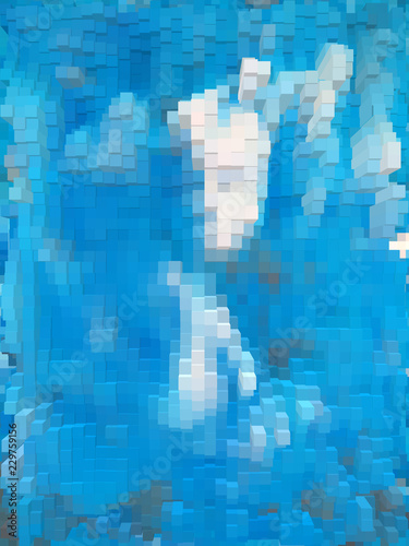 Fotobehang Gletsjers Vibrant dynamic cubes and vivid background for interesting and creative ideas. Suitable for web, print, wallpapers.