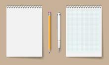 Blank Spiral Notebook Mockup F...