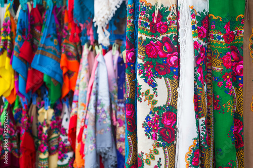 Traditional shawls from Zakopane, Poland