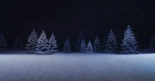 Magic Winter Forest With Illum...