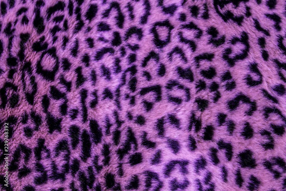 Fototapeta lila leoparden Muster