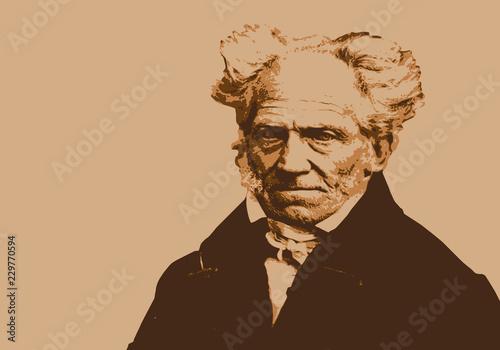 Portrait de Schopenhauer, célèbre philosophe allemand du 19ème siècle Canvas Print