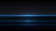 Blue neon linear lights