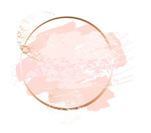 Golden Pink Art Frames. Modern...