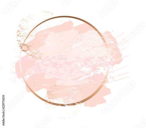 Golden pink art frames Wallpaper Mural