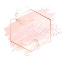 Golden Pink Art Frames. Modern...