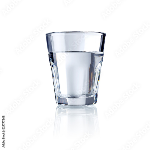 glass of water , isolated on white