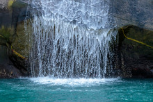 Waterfall In Tracy Arm Fjord N...